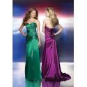 společenské šaty Mandy 35 zelené a fialové
