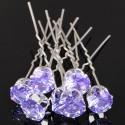 fialové pinetky, ozdoba do vlasů