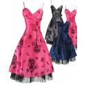 Sofia koktejlky společenské krátké šaty - stříbrné, modré, růžové