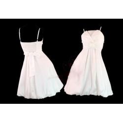 Sofia koktejlky bílé krátké společenské šaty S-M
