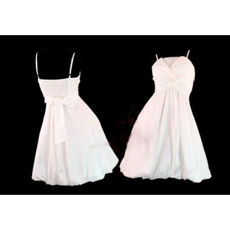 bílé krátké společenské šaty L-XXL