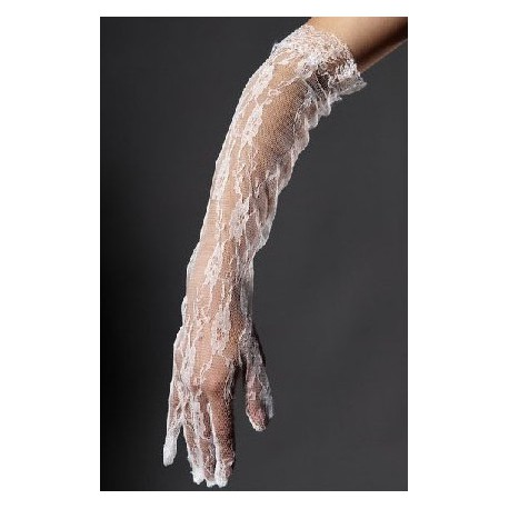 krajkové svatební bílé rukavičky