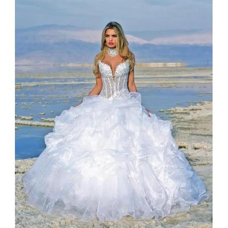 extra luxusní bílé svatební šaty Claudia S-M