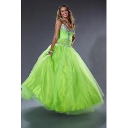 Quinceanera plesové společenské zelené šaty S-M