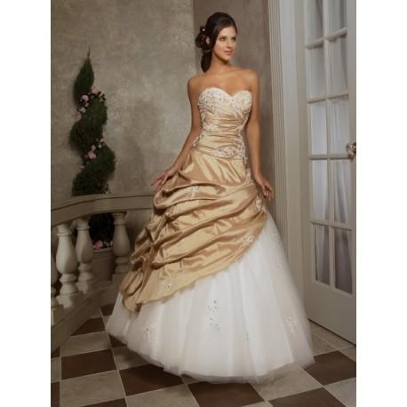 svatební plesové šaty Mediana bílá + champagne - Hollywood Style E ... 5e54138338