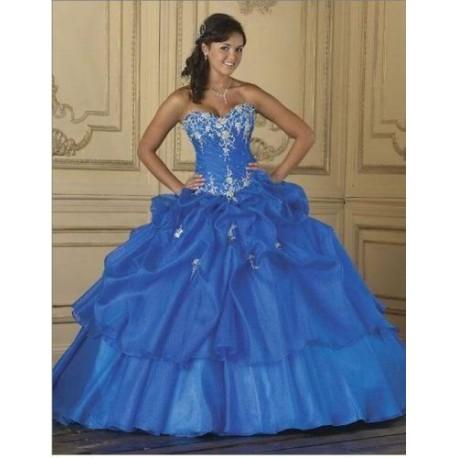 modré plesové společenské šaty