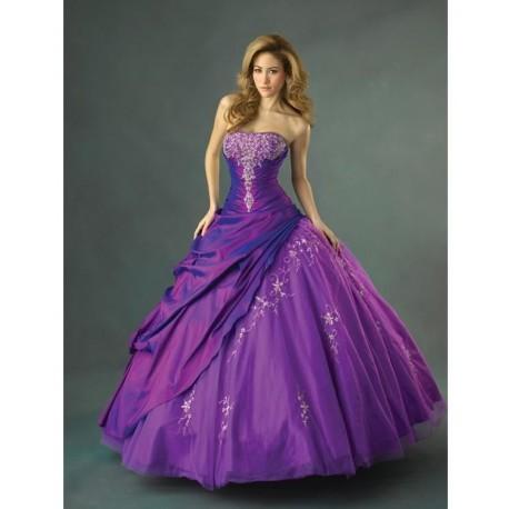 fialové plesové šaty Lilia