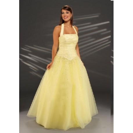 žluté plesové šaty na maturitní ples