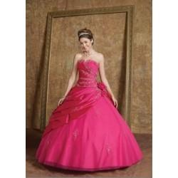 luxusní růžové plesové maturitní šaty