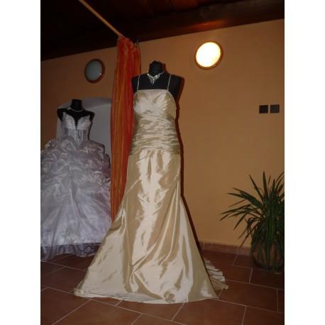 svatební šaty Champagne XL