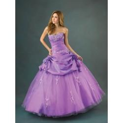 fialové plesové společenské šaty Purpuria L-XL