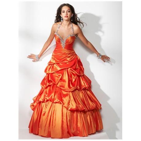 plesové společenské šaty Mandy 22 oranžové b1e7fb0ffec
