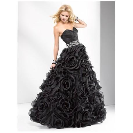plesové společenské šaty Mandy 27 černé, bílé, růžové a červené