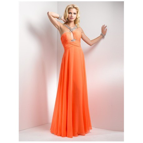 plesové společenské šaty Mandy 28 oranžové 22233c0bf5a