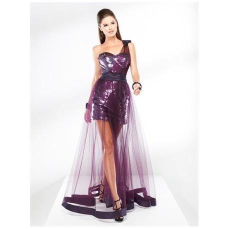 plesové společenské šaty Mandy 30 fialové a černé
