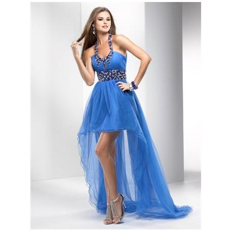 plesové společenské šaty Mandy 32 modré, fialové a růžové
