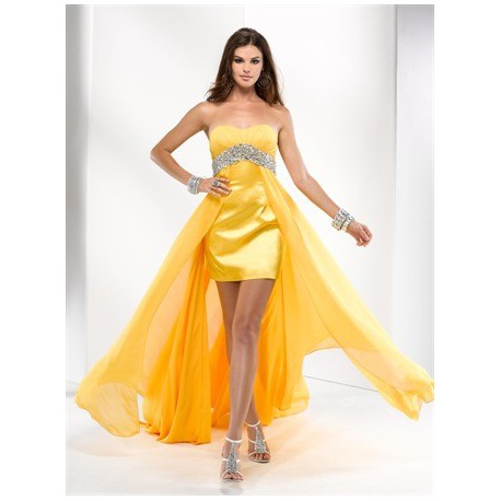 plesové společenské šaty Mandy 34 žluté 76f02945881