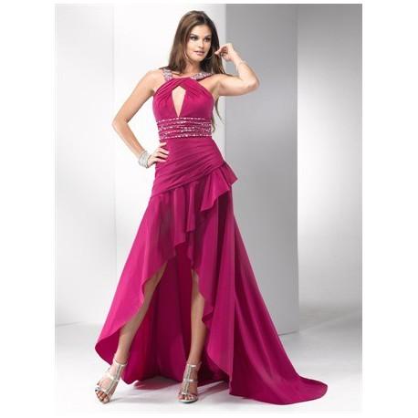 plesové společenské šaty Mandy 38 růžové, stříbrné a modré