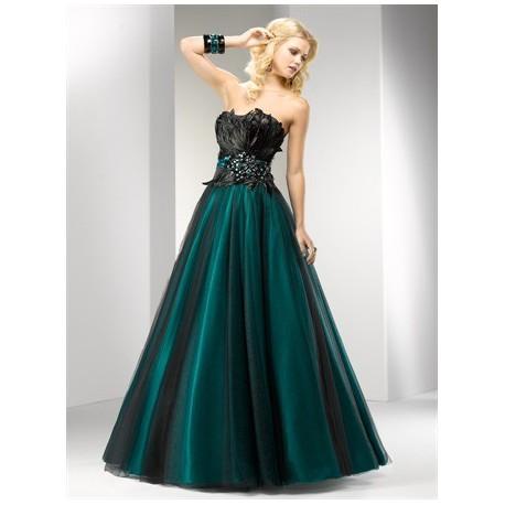 plesové společenské šaty Mandy 39 zelené a fialové