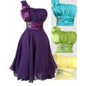 Sofia společenské  krátké šaty - žluté, zelené, fialové, modré