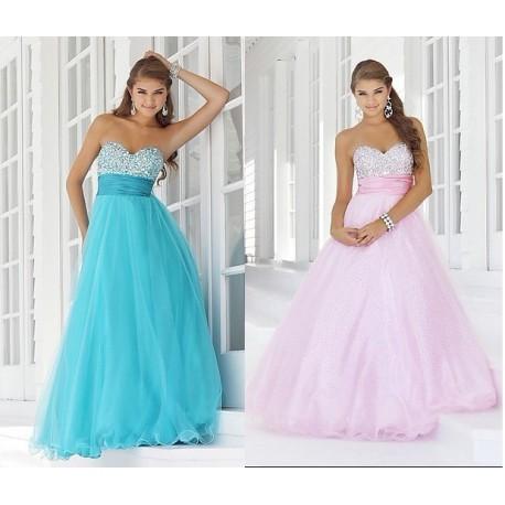 luxusní růžové nebo modré plesové společenské šaty Samantha