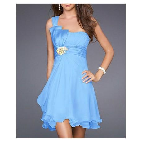 becfe0cb3 Sofia modré krátké společenské šaty S-M a M-L - Hollywood Style E ...
