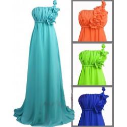Sofia barevné společenské dlouhé šaty - zelené, modré, tmavě modré, fialové, oranžové, hnědé