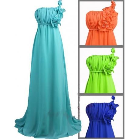 Sofia barevné společenské dlouhé šaty - zelené 8c175d256a