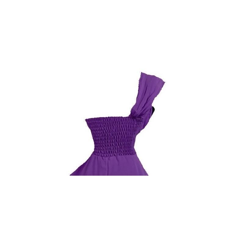 Sofia společenské krátké šaty fialové XL-XXL - Hollywood Style E ... 64dc7a740c