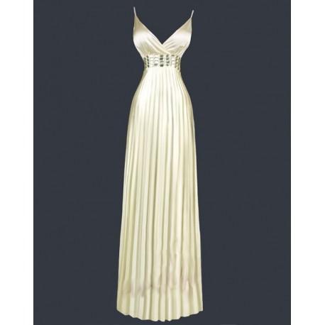 Sofia dlouhé meruňkové společenské šaty M-L - Hollywood Style E-Shop ... 3183a294786