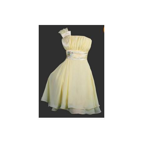 Sofia společenské  krátké šaty - žluté, zelené, fialové, modré, šedivé, růžové