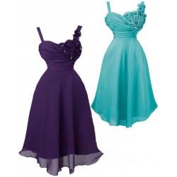 Sofia krátké koktejlky společenské šaty - tmavě a světle modré