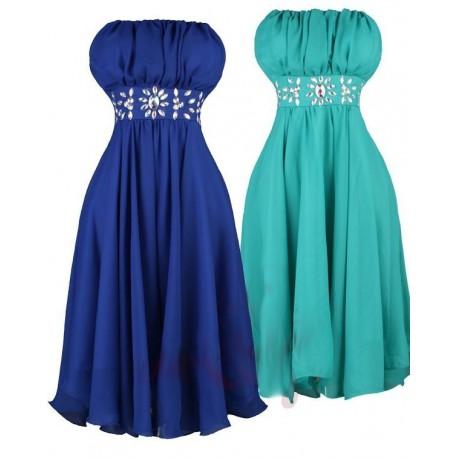 Sofia krátké společenské šaty - modré, tmavě modré