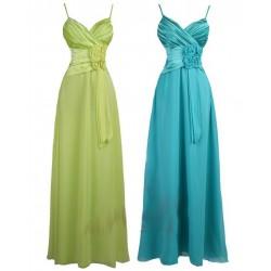 Sofia dlouhé společenské šaty - modré, zelené