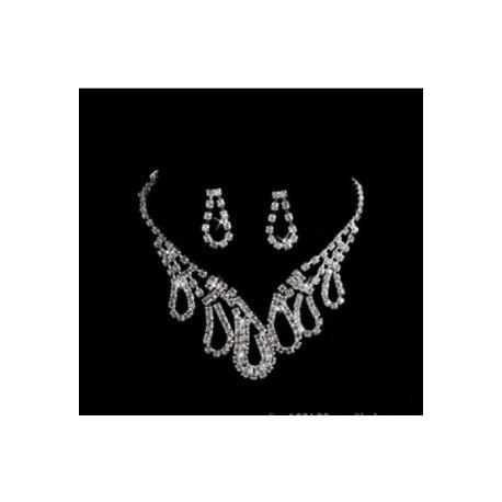 štrasová souprava Marilyn pro nevěstu - náhrdelník, náušnice