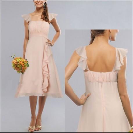 krátké světle růžové společenské šaty L - Hollywood Style E-Shop ... dce1b526fa