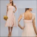 krátké světle růžové společenské šaty L