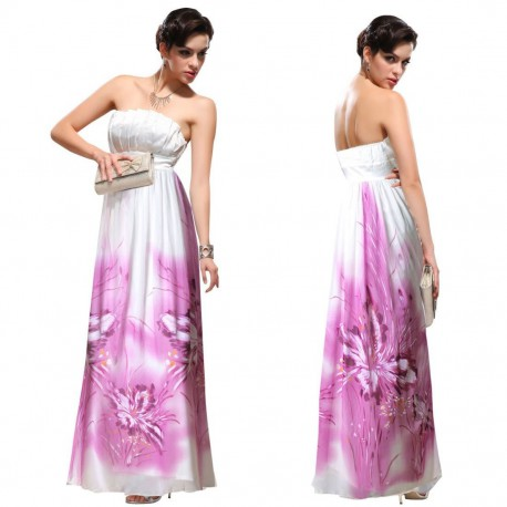 malované luxusní bílé svatební společenské šaty M