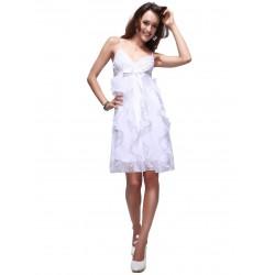 krátké bílé společenské šaty Dafné M