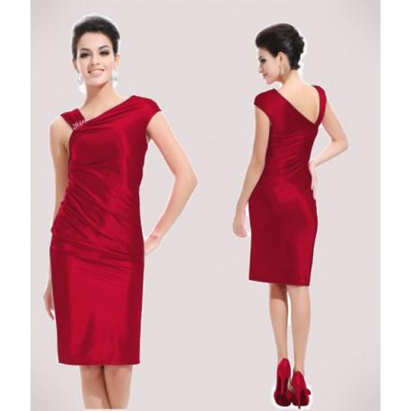 krátké červené společenské šaty koktejlky M - Hollywood Style E-Shop ... 097843b9bf4