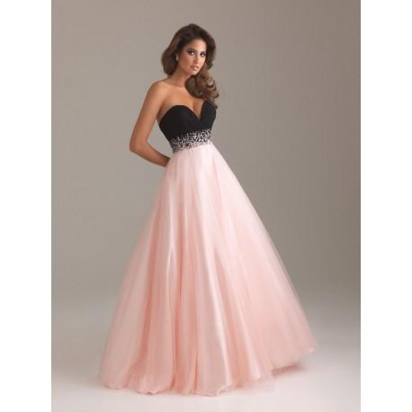 Mandy plesové společenské šaty růžovo-černé