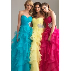 luxusní modré plesové společenské šaty Mandy M-L