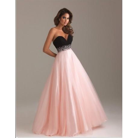luxusní růžovo-černé plesové společenské šaty na maturitní ples ... 94d0b634a0