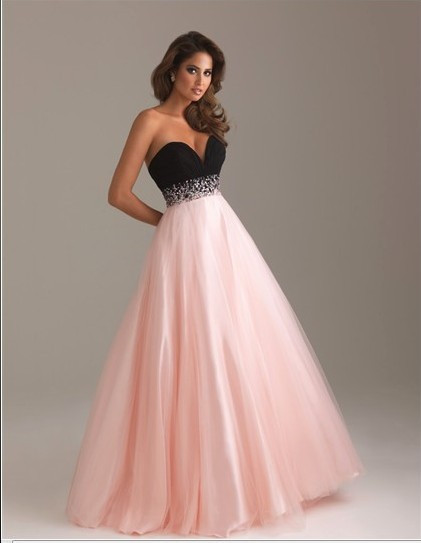 1df1d4c92c8 luxusní růžovo-černé plesové společenské šaty na maturitní ples Mandy  XL-XXL - Hollywood Style E-Shop - plesové a svatební šaty