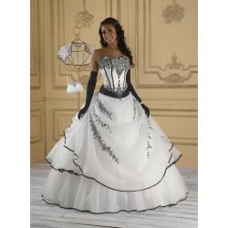 luxusní společenské plesové svatební šaty Adrianna S-M včetně bolerka a kabelky