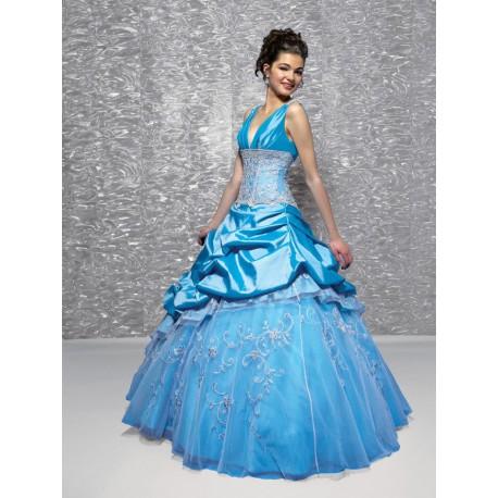 modré princeznovské plesové společenské šaty Mandy M-L - Hollywood ... a6b2f8fbaa