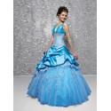 modré princeznovské plesové společenské šaty Mandy M-L