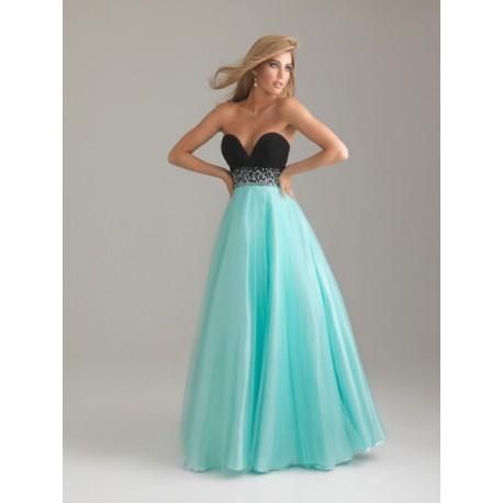 d79b728cf63 luxusní modro-černé plesové společenské šaty na maturitní ples Mandy L-XL