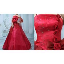 AKCE červené plesové společenské šaty Ronnie S-M