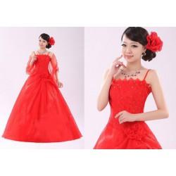 červené plesové společenské šaty Elizabeth M-L